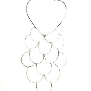 Cloud Large Necklace Rhodium