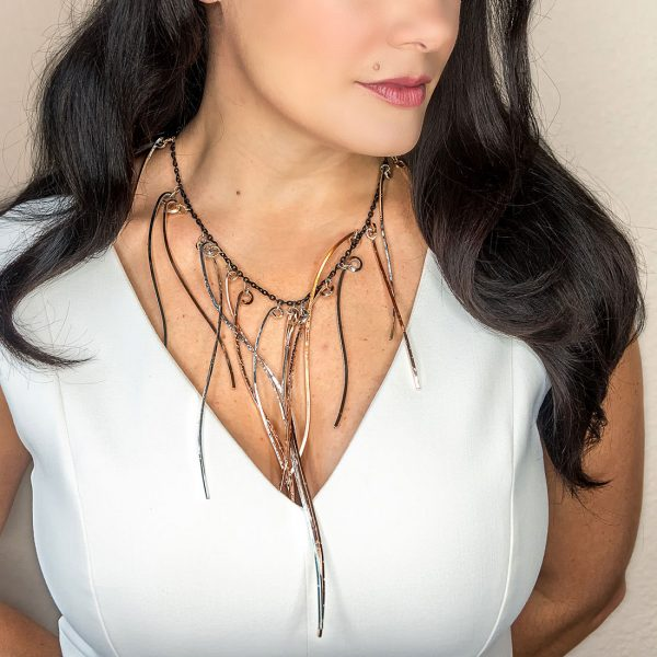 Icicle Large Mix Metal Necklace - product