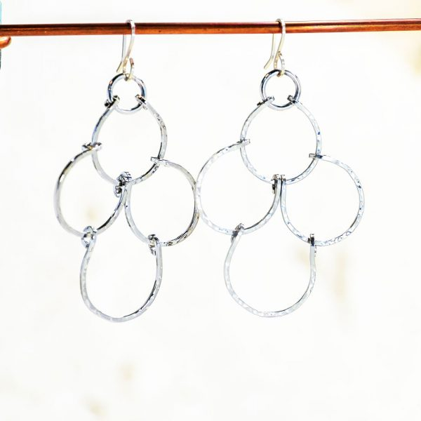 Cloud large tiered earrings - product