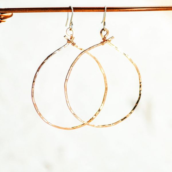 Cloud Rose Gold Round earrings - product